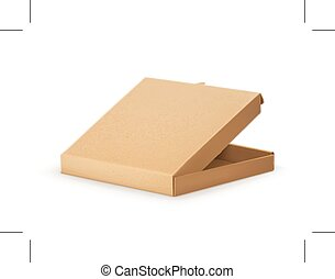 scatola, cartone, pizza