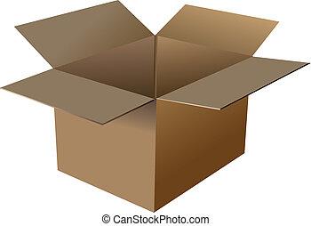 scatola, cartone, vuoto