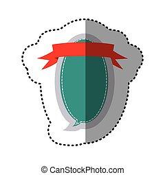 scatola, colorare, adesivo, disegno, dialogo, ovale, balloon, nastro