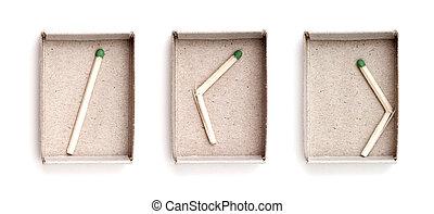 scatola di fiammiferi, ultimo, fiammifero