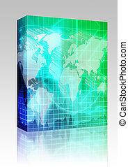 scatola, finanza internazionale, fondo, pacchetto
