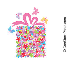 scatola, fiore