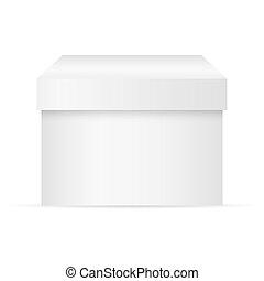 scatola, fondo, bianco, vettore
