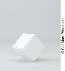 scatola, fondo., interpretazione, cube., sagoma, vuoto, vuoto, 3d