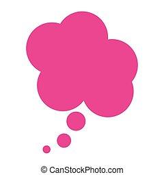 scatola, fushia, disegno, nuvola, dialogo