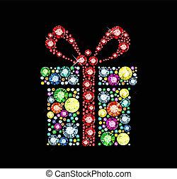 scatola, gemma, regalo