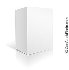 scatola, grande, bianco
