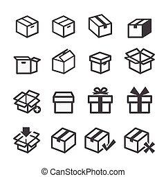 scatola, icona