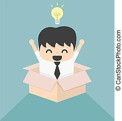 scatola, immagine, concetto, esterno