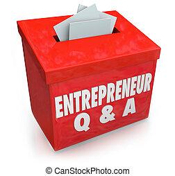 scatola, informazioni, stesso, risposte, imprenditore,...