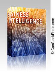 scatola, intelligenza, illustrazione affari, pacchetto