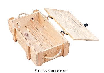 scatola legno, aperto