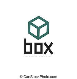 scatola, logotipo, disegno