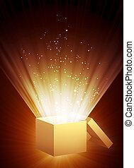 scatola, magia