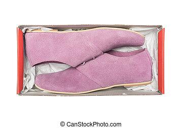 scatola, malva, scarpe
