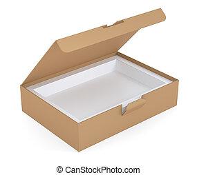 scatola, marrone, cartone