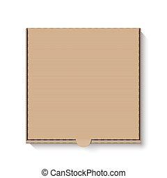 scatola, marrone, cartone, pizza
