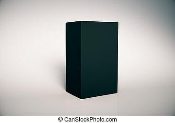 scatola, nero, vuoto