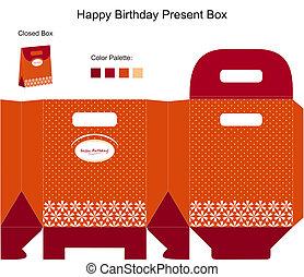 scatola, presente compleanno, felice