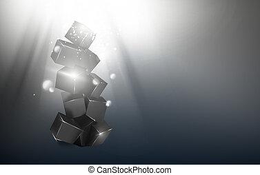 scatola, pyramid.