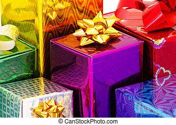 scatola, regali, natale