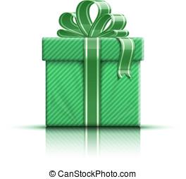 scatola regalo, con, arco
