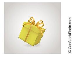 scatola regalo, con, nastro, arco
