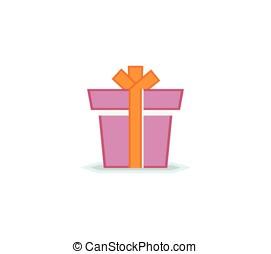 scatola regalo, con, nastro