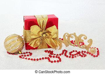 scatola, regalo, decorazioni