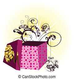 scatola, regalo