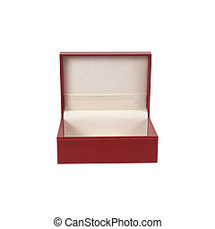 scatola, regalo, isolato, fondo, bianco, aperto