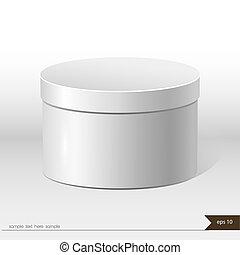 scatola, regalo, isolato, imballaggio, fondo, bianco