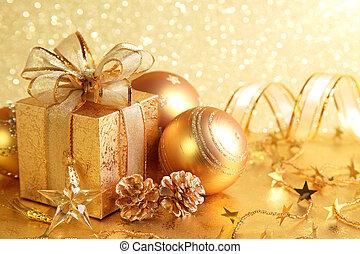 scatola, regalo natale