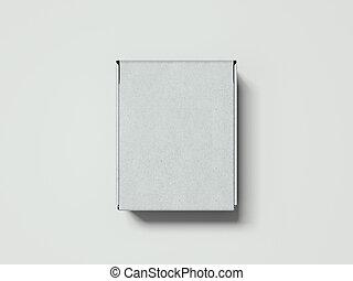 scatola, rendering., fondo, bianco, cartone, 3d
