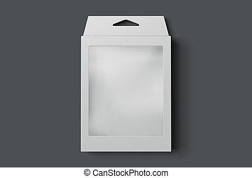scatola, rendering., isolato, fondo., bianco, cartone, 3d