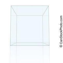 scatola, riflessione, trasparente, pavimento