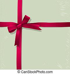scatola, rosa, legato, caramella, fondo, nastro