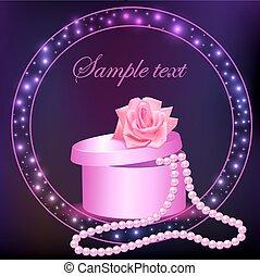 scatola, rosa, pera