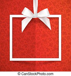 scatola, serico, regalo, modello, cornice, arco, carta,...