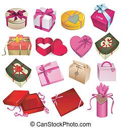 scatola, set, regalo