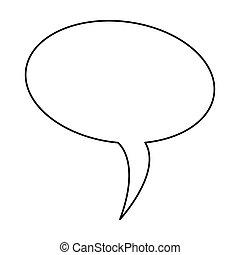 scatola, silhouette, balloon, disegno, dialogo