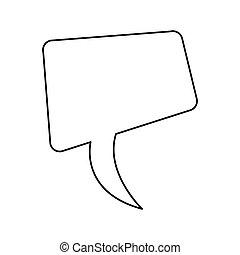 scatola, silhouette, disegno quadrato, dialogo