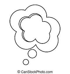 scatola, silhouette, disegno, sollievo, dialogo, nuvola