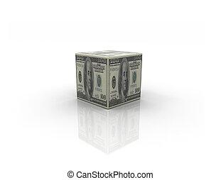 scatola, soldi