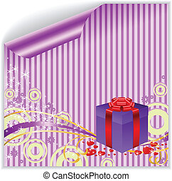 scatola, su, il, strisce, adesivo