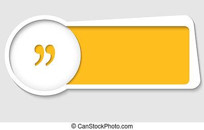 scatola, testo, marchio, vettore, inserzione, quotazione