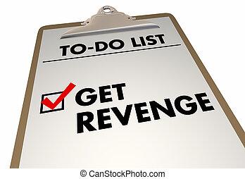scatola, to-do, ottenere, elenco, vendetta, illustrazione, marchio, appunti, assegno, 3d