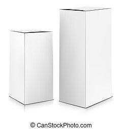 scatola, vector., su., bianco, beffare