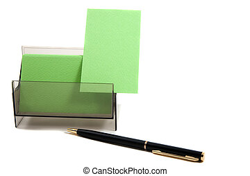 scatola, (with, affari, spazio, text), verde, scheda