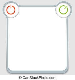 scatola, witth, potere, testo, astratto, vettore, bottone